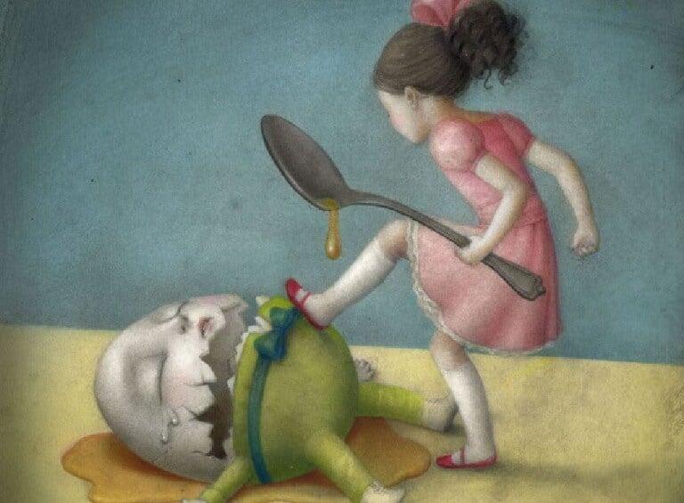 Kind-zerstoert-ein-Ei