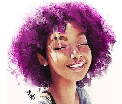 Andere akzeptieren, wie sie sind - auch mit lila Haar