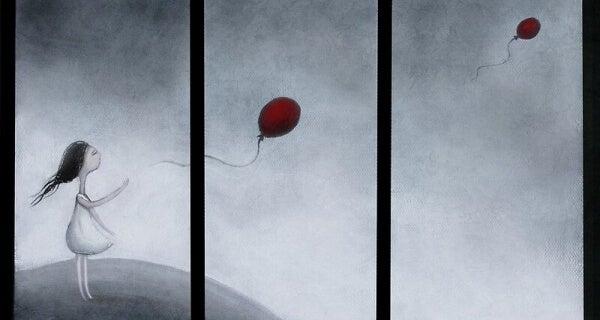 Luftballoons-wegfliegen