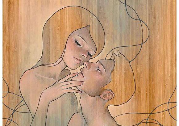 Mann und Frau aus Holz