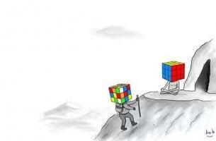 Gehirnfunktionen verbessern - vom ungeordneten zum geordneten Rubikwürfel
