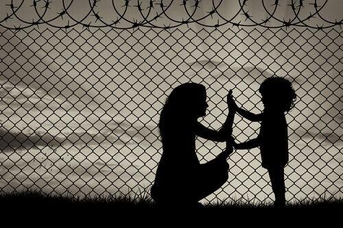 Mutter und Kind in Flüchtlingslager