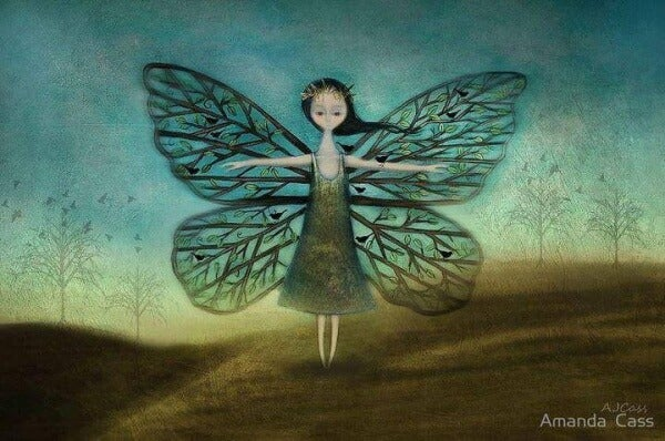 Schmetterlingsmädchen