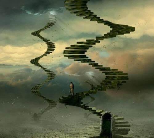 Treppen, die in den Himmel führen
