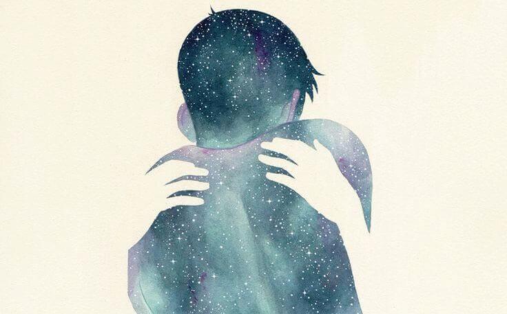 Umarmung im Universum
