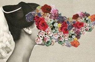 Braut-mit-Blumen-im-Gesicht