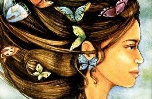 Jugendlicher Geist - Schmetterlinge im Haar
