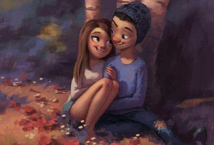 Wer dich wirklich liebt, der zeigt es in seinem Blick.