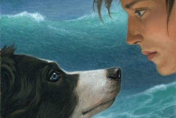 Mann blickt seinem Hund in die Augen