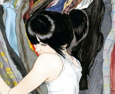 maedchen-umarmt-kleidung