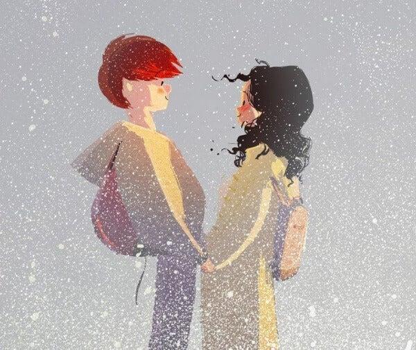Paar-im-Schnee