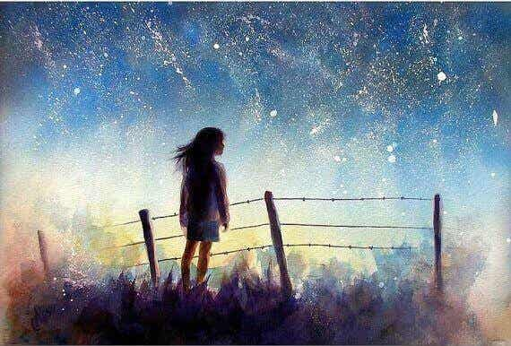 Bewahre dir immer einen Traum, der dein Leben erhellt