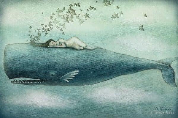 Ich habe so viele Tränen vergossen, dass Wale darin schwimmen können