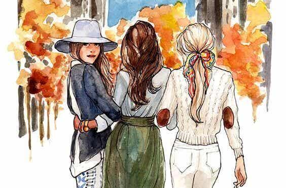 Schwestern sind durch ihr Herz verbunden
