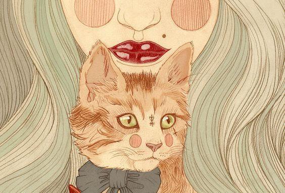 Žena-s-mačka