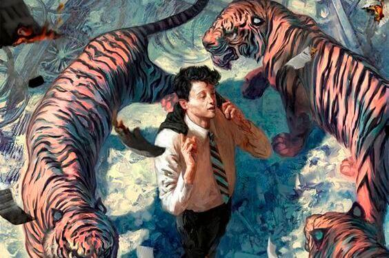 mann-mit-tigern