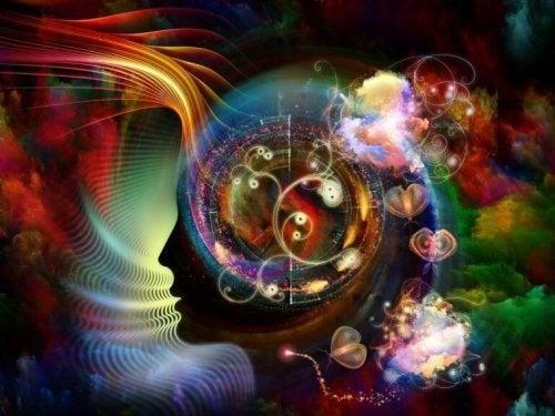 Farbige Spiralen im Gehirn