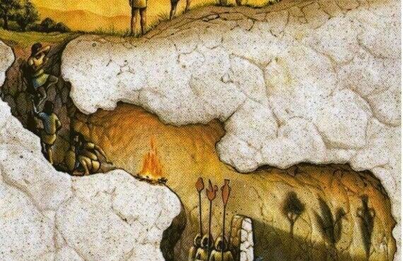 Das Höhlengleichnis von Platon: das zweischneidige Messer unserer Realität