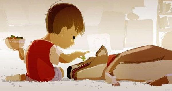 Die Bindung zwischen Kindern und Haustieren
