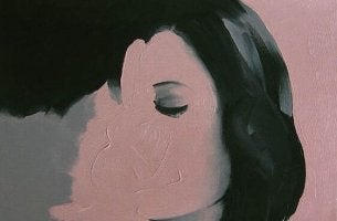 Zeichnung eines sich küssenden Paares