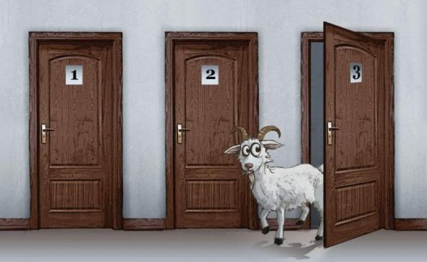 Das Monty-Hall-Dilemma - die Ziege hinter drei Türen.