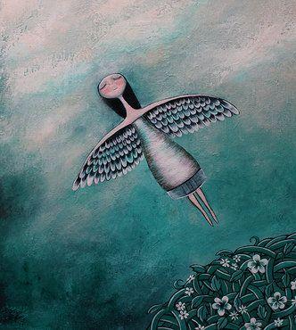 Den inneren Frieden finden - Engel fliegt gen Himmel