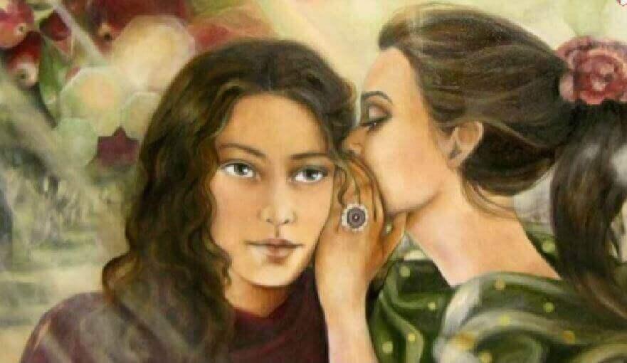 Gute Menschen in unserem Leben - Freundinnen erzählen sich ein Geheimnis