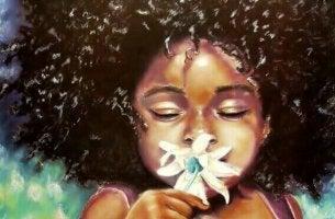 Derjenige, der am wenigsten braucht, kann mit dem Duft einer Blume glücklich werden