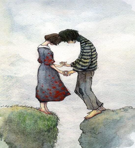 Menschen schätzen lernen und Unterstützung im anderen finden, wie dieses sich liebende Paar