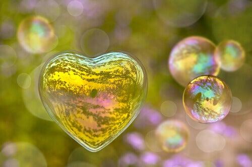 Ein Seifenblasenherz