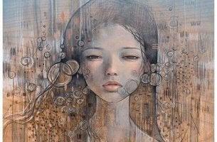 Porträt einer Frau, die schweigt