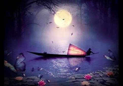 Östliches Boot bei Nacht