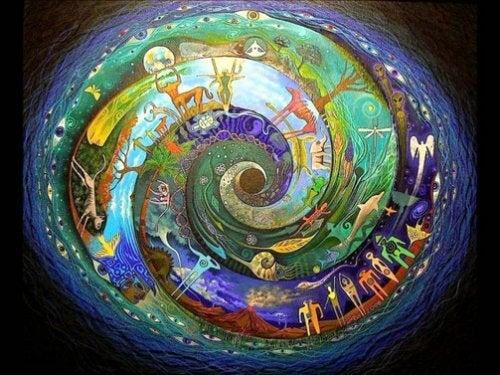 Spirale mit Figuren drin