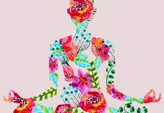 Silhouette einer Frau, die Yoga praktiziert