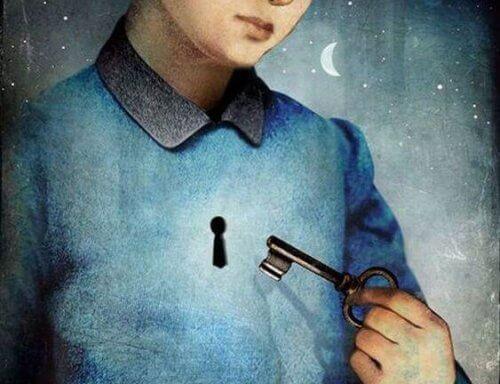 Ein Mann mit dem Schlüssel zu seinem Herzen