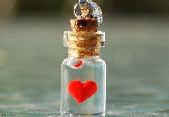 Herz in der Flasche