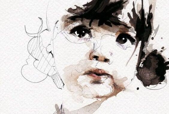 Zeichnung eines Kindergesichts