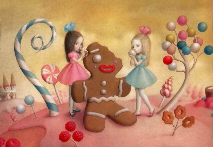 Mädchen mit Lebkuchen