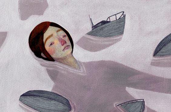 Frau versinkt im Meer der Traurigkeit, weil man ihr keinen Respekt entgegenbringt