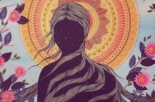 Was ist Spiritualität? - Dunkle Gestalt vor hellem Zirkel