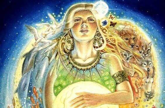 Weise, spirituelle Frau