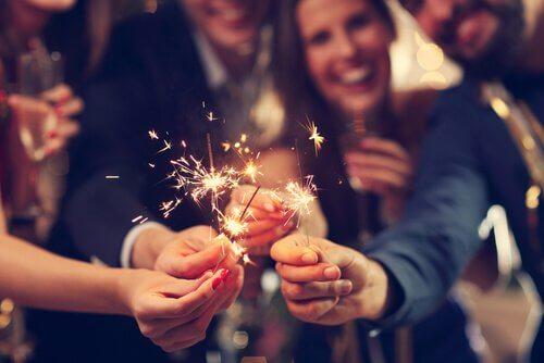 Wunderkerzen zu Neujahr