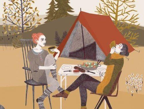 Campendes Paar