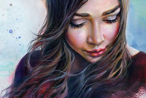 Eine Frau mit langen Haaren