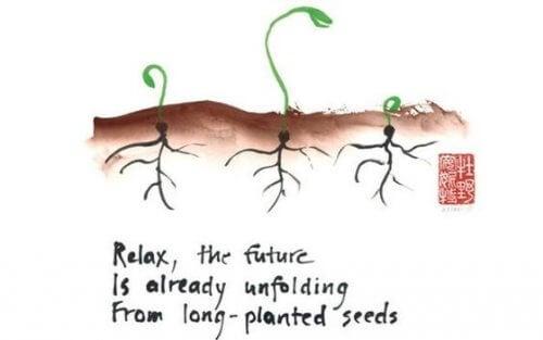 Mehrere Pflanzen mit Haiku