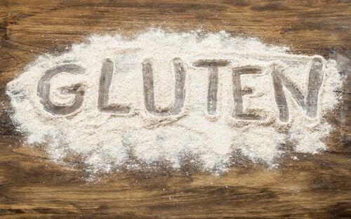Gluten in Mehl geschrieben