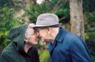 Glückliches altes Paar