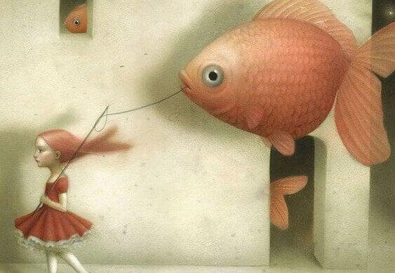 Mädchen mit Fischballon