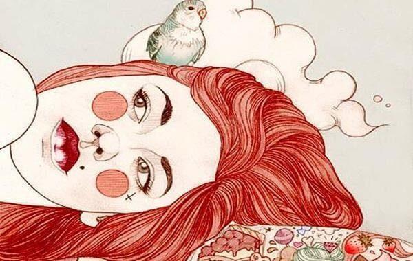 Bunte Malerei beinhaltet ein Papagei.