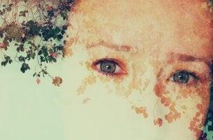 halbverblichenes Gesicht